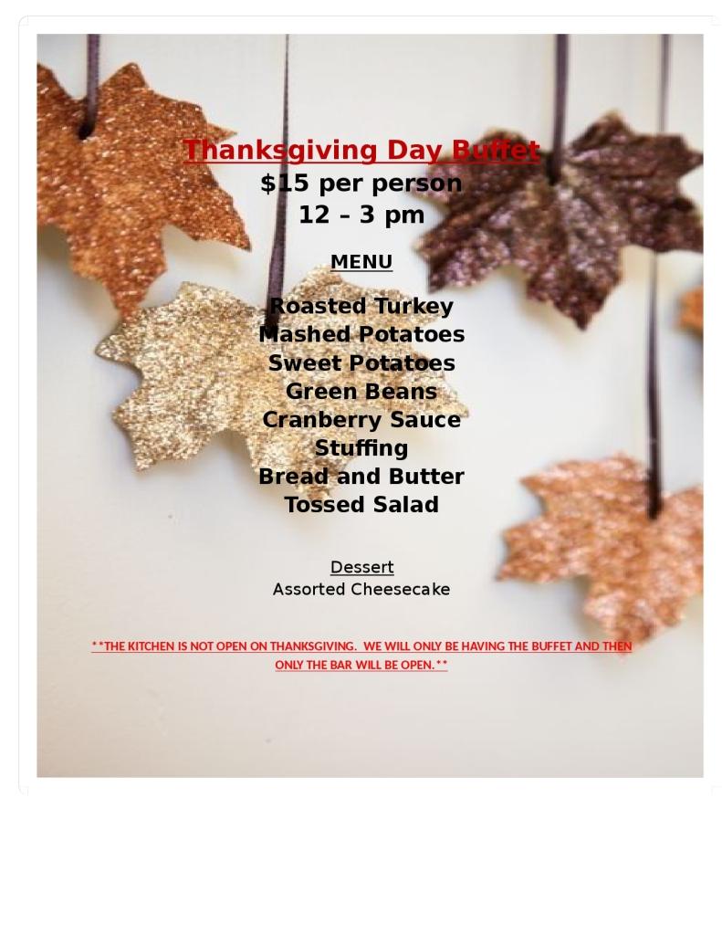 Thanksgiving Day Buffet(1)