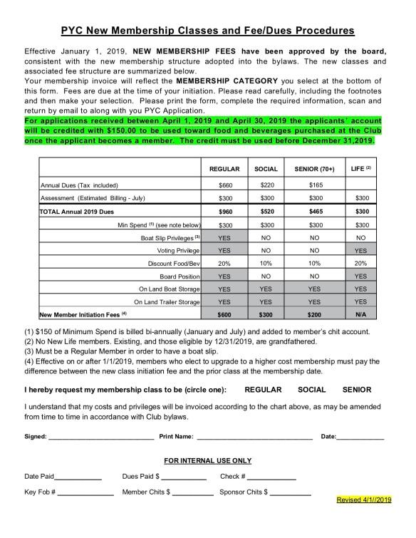 April Membership Promotion
